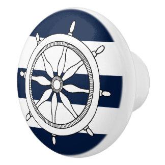 Nautical Ship Wheel Ceramic Knobs / Pulls