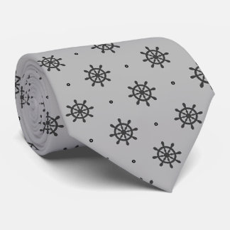 Nautical Ship Wheel Design Tie
