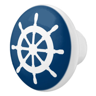 Nautical ship wheel door and drawer pull knobs