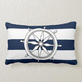 Nautical Ship Wheel Lumbar Pillow