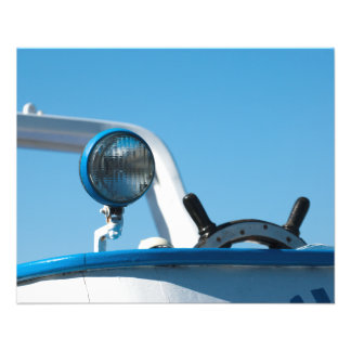 Nautical ship wheel sailboat 11.5 cm x 14 cm flyer