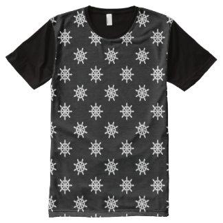 Nautical ship's wheel pattern All-Over print T-Shirt