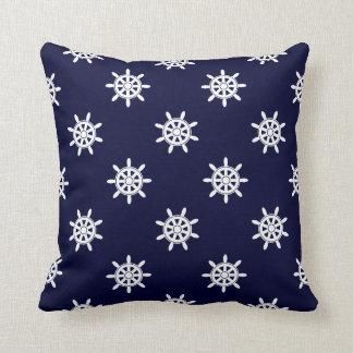 Nautical ship's wheel pattern cushion