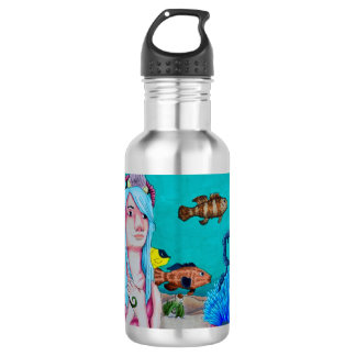 Nautical Sights to See Water Bottle