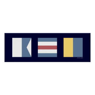 Nautical Signal Flags ACK Nantucket Poster