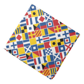 Nautical Signal Flags Pattern Bandana