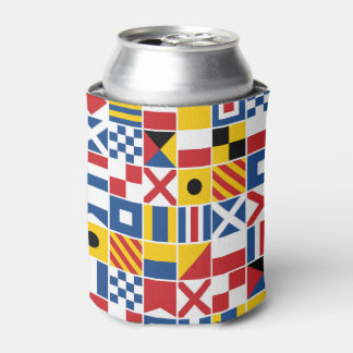 Nautical Signal Flags Pattern Can Cooler
