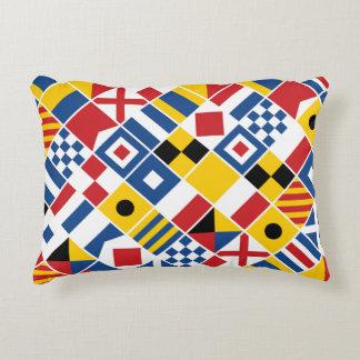 Nautical Signal Flags Pattern Decorative Cushion