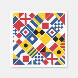 Nautical Signal Flags Pattern Disposable Napkin
