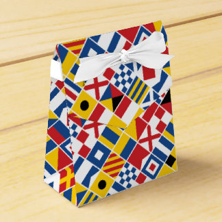 Nautical Signal Flags Pattern Favour Box