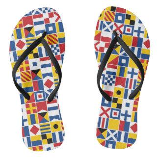 Nautical Signal Flags Pattern Thongs