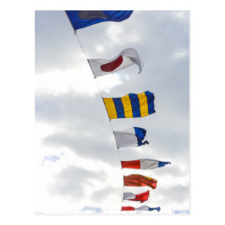 Nautical Signal Flags Postcard