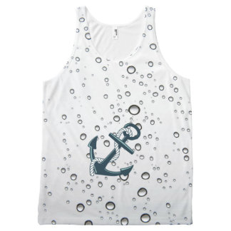 Nautical Sinking Anchor All-Over Print Singlet