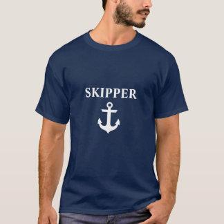 Nautical Skipper Anchor Blue T-Shirt