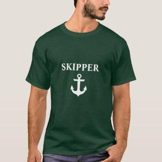 Nautical Skipper Anchor Green T-Shirt