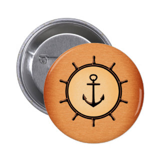 Nautical Standard, 2¼ Inch Round Button