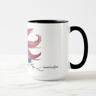 nautical starfish beach mug