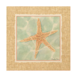 Nautical Starfish in Water Wood Wall Art