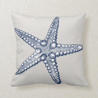 Nautical Starfish Throw Pillow