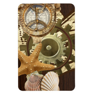 Nautical Steampunk Gears Magnet