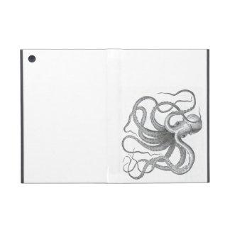 Nautical steampunk octopus vintage book drawing iPad mini case