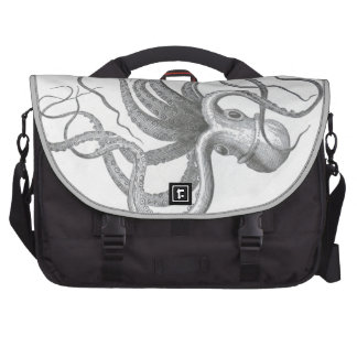 Nautical steampunk octopus vintage drawing commuter bags
