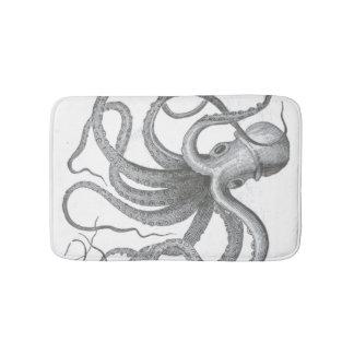 Nautical steampunk octopus Vintage kraken decor Bath Mat