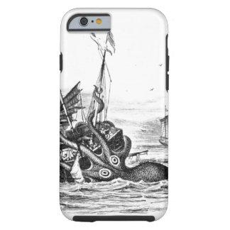 Nautical steampunk octopus vintage kraken drawing tough iPhone 6 case