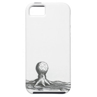 Nautical steampunk vintage octopus book drawing tough iPhone 5 case