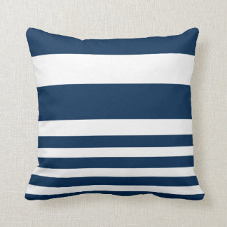 Nautical Stripe Pillow - Rugby Stripe - Navy White