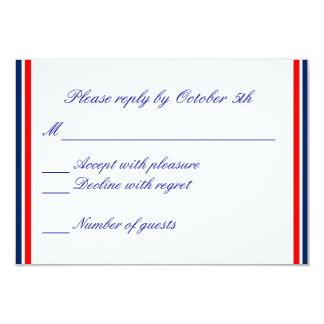 Nautical Stripe RSVP Card 9 Cm X 13 Cm Invitation Card