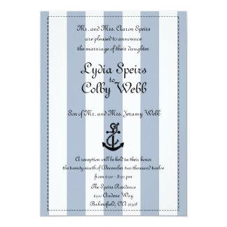 Nautical Stripe Wedding Announcement Edited