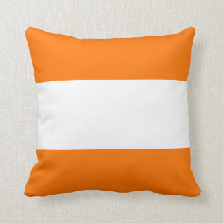 Nautical striped pillow in Daylily Orange