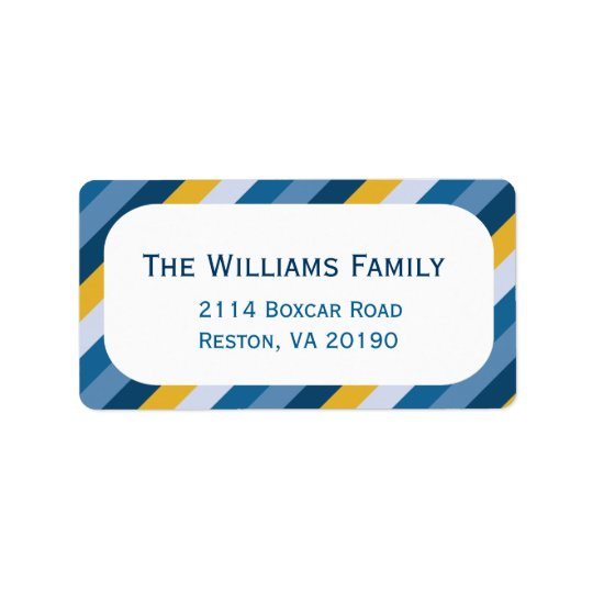 Nautical Stripes Address Label