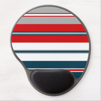 Nautical stripes gel mouse pad