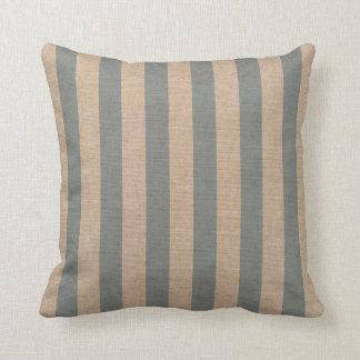 Nautical Stripes in Beach Blue 2 Cushion