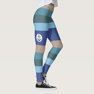 Nautical Stripes leggings