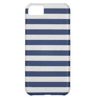 Nautical Stripes Navy White iPhone 5C Case
