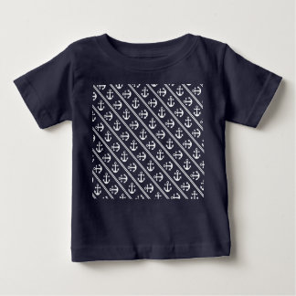 Nautical stripes with anchors baby T-Shirt