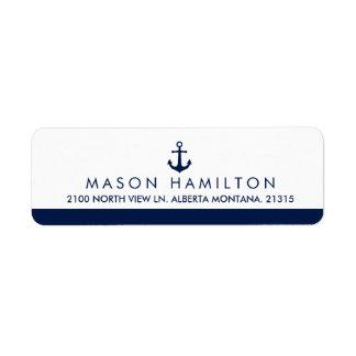Nautical Style Anchor | Return Address Return Address Label