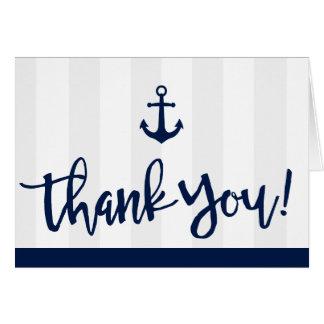 Nautical Style Anchor Thank You Card