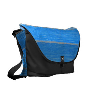 Nautical style blue painted wood commuter bag