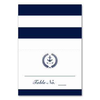Nautical Style Wedding Table Escort Card