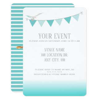 Nautical Teal Sea Breeze Card