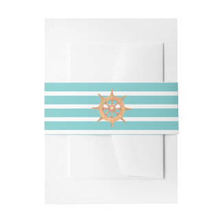 Nautical Teal Sea Breeze Invitation Belly Band