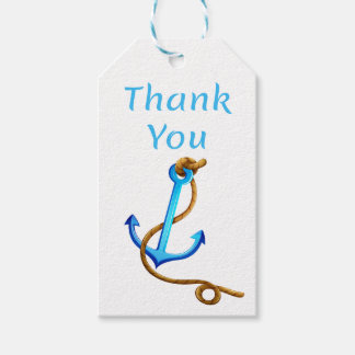 Nautical Thank You Anchor Wedding Turquoise Gift Tags