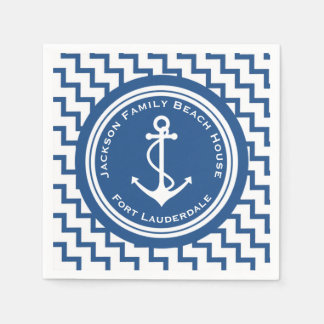 Nautical Theme Anchor Family Beach House Party Disposable Serviette