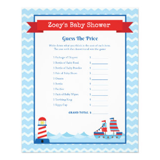 Nautical Theme Baby Shower Game Flyer