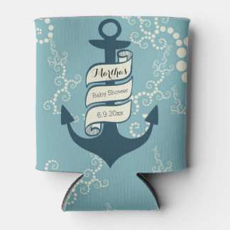 Nautical Theme Can Cooler