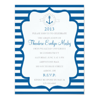 Nautical Theme Graduation Invitation